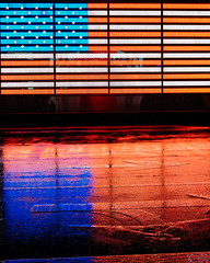 American Reflections (melfoody) Tags: america americana american nyc newyork newyorkcity timessquare rain reflection patriotism flag starspangledbanner usa canon street travel explore explored