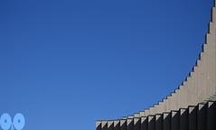 A Curve to the Sky (occhio-x-occhio) Tags: rough watermark sky architecture blue gray morning web outdoor cement oxo rome new church pinterest g fb