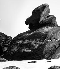 A troll (Bente Nordhagen) Tags: nordlenangsneset mann påske steinformasjon vinter