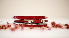 Rouge passion (Et si, et si ...) Tags: bracelet rouge fleurs printemps highkey studio objet