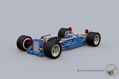 Show Stopper Rod chassis - 10-wide - Lego (Sir.Manperson) Tags: lego hot rod lfa engine chassis ldd render yee