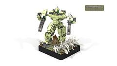 Gabriel Light Engine (CK-MCMLXXXI) Tags: gabriel engine battledroid battlemech moc lego titan mech robot battle digital render ldd