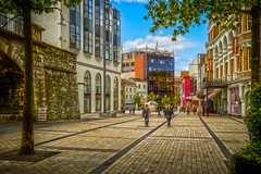 Precinct (Trev Bowling) Tags: londonderry precinct ireland derry cobbles cobbled shops paving