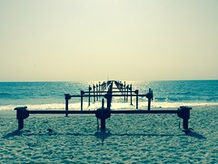 Alleppey beach (samalaaravind) Tags: places amazing wallpapers beautiful piers travel india kerala alleppey beach