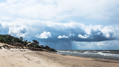 Latvia (`TOMS`) Tags: latvia latvija lettland lettonie liepaja landscape landschaft baltic baltics balticsea baltija rain clouds coast shore sand water sea coastline nikon nikkor afsdxnikkor35mmf18g f18g f18 35mm d3200 digital beach sky bernati