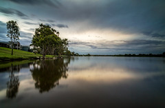 When Light and Dark Collide (*ScottyO*) Tags: sa southaustralia murrayriver australia whitesands river water riverscape landscape tree eucalyptus reflection sky clouds weather stormy moody light dark blue gray nature outdoor green longexposure tranquil calm shore horizon