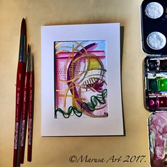 Abstract Watercolor (marusaart) Tags: marusaart abstract aquarell watercolor painting artist art