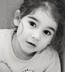 Chiara (nicolamarongiu) Tags: blackandwhite chldren ritrattobambini baby occhi biancoenero highkey portait