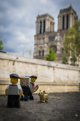Marcel, a Parisian in Paris (Portrait at Notre Dame) (Ballou34) Tags: 2017 7dmark2 7dmarkii 7d2 7dii afol ballou34 canon canon7dmarkii canon7dii eos eos7dmarkii eos7d2 eos7dii flickr lego legographer legography minifigures photography stuckinplastic toy toyphotography toys paris îledefrance france fr 7d mark 2 ii eos7d stuck plastic bread baguette dog cloud cloudy clouds berret stripes moustache parisian notre dame cathedral portrait painter painting