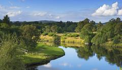 A Caledonian Pastorale (lunaryuna) Tags: uk scotland cairngorms nationalpark landscape riverspey riverbend pastoralimage trees sky clouds cloudscape lightmood reflections seeingdouble beauty lunaryuna