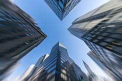 Crossroads (Rudy Malmquist) Tags: new york city nyc chrysler building lookingup motion blur street manhattan x sky crossroads newyork midtown