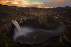 Palouse Falls wide (1riverat) Tags: 1riverat matthewreichel waterfall palousefalls river sunset washingtonstate le