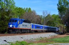 North Carolina by Train (H-bob-omb) Tags: amtrak piedmont train 73 amtk ncdot north carolina department transportation emd f59phi 1755 kannapolis railway