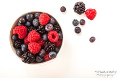 Berry Bowl (Dave Denby) Tags: blueberry raspberryblackberry raspberry blackberry bowl fruit berry white