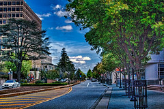 My town (bluesbby) Tags: town city street landscape california trees nature