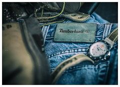 Worn And Torn... (kirby126) Tags: timberland worn torn old available light canon6d 50mm clothing boots blue jeans