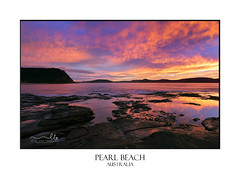 Pearl Beach scenic landscape (sugarbellaleah) Tags: dawn bluehour beach landscape reflections nature clouds glorious sunrise colour vivid water ocean seascape vacation travel relax recreation outdoors morning sky sensational scenery seaside pearlbeachaustralia australia weathered eroded rocks silhouette