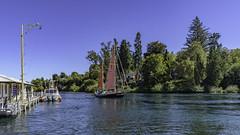 Fearless (- Jan van Dijk -) Tags: taupo waikato newzealand nz sail boat lake zeil river channel sailing
