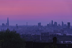 Pink Love (JH Images.co.uk) Tags: london city pink hdr dri night shard shooters hill architecture bt tower gherkin skyscrapers skyline cityscape