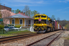 The Virginian comes to the S-Line (grady.mckinley) Tags: norfolk southern heritage morganton north carolina station depot virginian railway