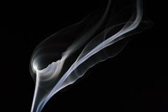 calla lilies in smoke...? (Emma Varley) Tags: smoke abstract incensestick cala flower lily black