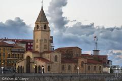 Iglesia de san Pedro (Gijón) (acampoh) Tags: nikon tamron españa spain gijon iglesia church atardecer sunset asturias clouds nubes exteriores outdoors