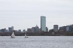 Out for a Sail (imartin92) Tags: boston massachusetts charlesriver harvard bridge river skyline hancock tower