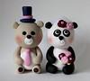 Bear / Panda Cake Topper (fliepsiebieps_) Tags: bearcaketopper pandacaketopperpanda cake topperpanda wedding cakebear cakewedding topperanimal cakecustom toppers