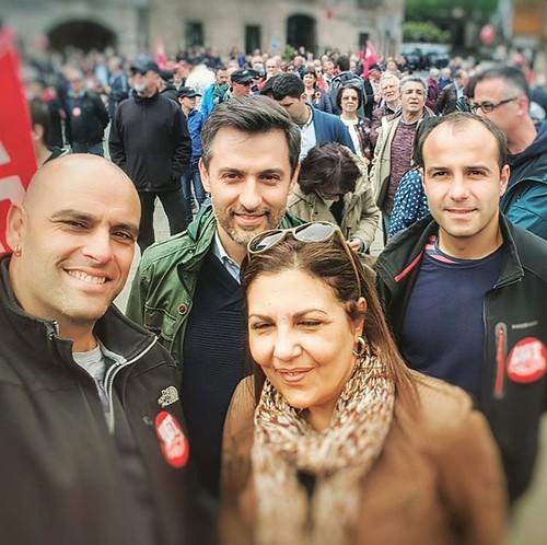 1° de Mayo rodeado de personas trabajadoras y comprometidas   #psoe #socialista #primerodemayo #ugt #asturias #aviles #gijon