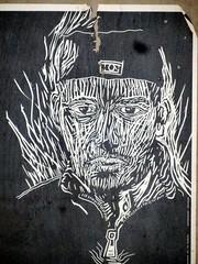Street Art-007 (Quetzalcoatl002) Tags: streetart weird posters amsterdam urban monochrome blackandwhite personages