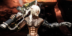 On guard (Migan Forder) Tags: warrior scifi male fantasy hero cyborg theforgestore