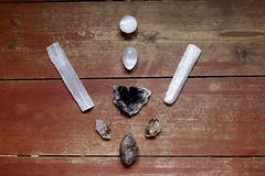 Crystal Grid (WILLPOWER STUDIOS) Tags: universeawaken life style crystals crystal grid selenite quartz smokeyquartz smoky herkimerdiamond