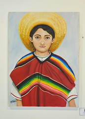 Mexican Boy Painting Oaxaca (Teyacapan) Tags: mixtec art paintings oaxaca museum boy serape