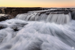 Illawarra rush (Luke Tscharke) Tags: morning sky seascape beach water flow golden waterfall movement focus shoot sydney australia shelf rush tidal austinmer 1740l illawarra littleausti midtolowtide