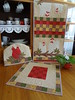 Conjunto de Cozinha (Paty Patch) Tags: patchwork cozinha galinhas patchaplique