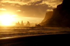 No darkness. (little_frank) Tags: ocean sunset sea wild panorama cliff mountain beach nature beautiful beauty rock wonderful wonder landscape island bay coast iceland islandia amazing fantastic scenery rocks europe loneliness peace silent view place sundown natural dream dramatic rocky surreal peaceful landmark legendary atlantic erosion formation mount fantasy silence 1984 stunning georgeorwell troll lonely rough geology wilderness fabulous pillars saga idyllic impressive drangar imposing fable middleearth islande seastacks marvellous islanda reynisdrangar geologic vikimyrdal reynisfjall vkmrdal geographicallandforms seabord sland marcofranchino