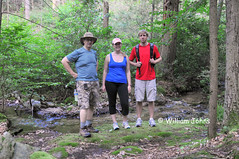 Bill, Rhonda and Josh at Tumbling Run Spring (Throwingbull) Tags: park sport bill spring joshua hiking pennsylvania 14 run william hike josh pa trail national rhonda hiker hikers appalachian activity sec section tumbling