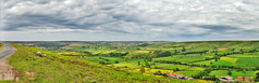 Moors View - Near Castleton (philb1959) Tags: road uk england panorama green animals clouds buildings landscape nationalpark nikon scenery sheep fields moors northyorkshire castleton nikond3000