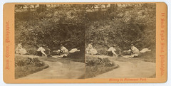 Spring, Landsdowne (Library Company of Philadelphia) Tags: philadelphia spring recreation landsdowne fairmountpark stereographs jamescremer