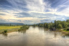 Minden River Weser in June 2