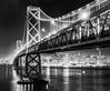 San Francisco Skyline B&W (Arob1000) Tags: california bridge bw white black landscape island lights golden bay gate san long exposure treasure nightscape area francico bestcapturesaoi