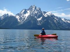 Kayaking in Colter Bay Grand Teton National Park (U.S. Department of the Interior) Tags: kayaking grandteton