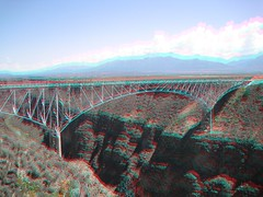 Rio Grande Gorge Bridge in 3d (CaptDanger) Tags: bridge usa newmexico canon 3d rocks unitedstates picture anaglyph american taos nm redblue rockformations americansouthwest 3dimensional riogranderiver taosnewmexico southwesternus taosnm 3dimages riograndegorgebridge anaglyph3d riograndegorgebridgein3d