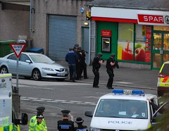 Armed officers at the Spar in Annan (slicnep) Tags: street uk shop scotland police butts spar crisis annan siege armed hostage dumfriesandgalloway dumfriesshire