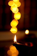 Happy Diwali (Abhijit Chendvankar) Tags: india festival photography 50mm lights photo nikon holidays flickr bokeh nikond50 photograph maharashtra diwali mumbai 50mmf18d diya happydiwali nikkor50mmf18d