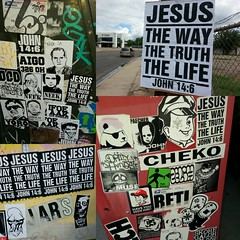 COLLAGE #1 (JOHN 146) Tags: skull jesus stickers rx theway thetruth stickercom