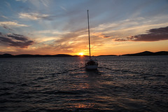 Croatia - Boattrip (mr-mojo-risin) Tags: sunset sea island boat wake croatia adria sibenik mediteranian kornati