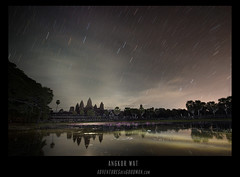 Ancient Stars. (Greg - AdventuresofaGoodMan.com) Tags: longexposure motion reflection building monument sunrise stars temple movement ruins cambodia buddhist ruin angkorwat siemreap angkor hindu astral startrails startrail astralphotography