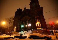 January 2014 Snowstorm 55 (David OMalley) Tags: city winter snow storm cold philadelphia night square pennsylvania snowy snowstorm january freezing rittenhouse center pa philly blizzard frigid wintry