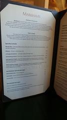 Markham's menu